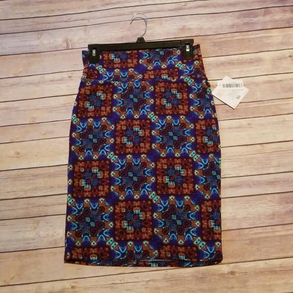 LuLaRoe Dresses & Skirts - Colorful blue geometric pattern LuLaRoe Cassie